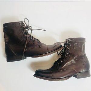 Frye Lace Up Combat Boots Shoes Women's Sz 6